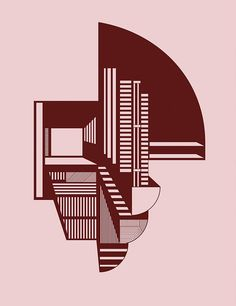 """The Abstraction A4 print is based on multiple hand drawings Dam created while studying architect and furniture maker Finn Juhl's oeuvre. """"Other Danish designers of his time were more geometric in the way they worked, but Juhl managed to create simple pieces with curved lines,"""" she says.  Courtesy of Kristina Dam."""