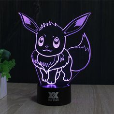 Features: - 3D stereoscopic effect: laser sculpting; more than 95% light transmittance. - 7 Colors change: Red, Green, Blue, Yellow, Cyan, Pink, White. - Touch button: Press one time, one color light