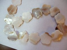 Bead Mother of Pearl Shell naturalbleached White by darlamarie23, $1.99