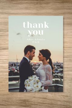 """""""Absolutely love our thank you cards! Highly recommend!"""" - Adam & Natalie 
