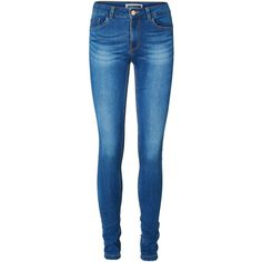 Vero Moda Soft Lucy Slim Fit Jeans ($34) ❤ liked on Polyvore featuring jeans, pants, bottoms, pantalones, straight leg jeans, slim jeans, stretch straight leg jeans, zipper jeans and stretchy jeans