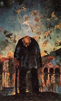 Salvador Dalí - Viejo Crepuscular, 1918                                                                                                                                                                                 Más