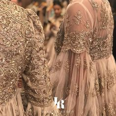 Love this gold gota patti embroidered sheer peplum lehenga blouse by Jayanti Reddy. Pakistani Formal Dresses, Pakistani Wedding Outfits, Pakistani Dress Design, Bridal Outfits, Best Wedding Dresses, Pakistani Bridal Wear, Indian Designer Outfits, Indian Outfits, Designer Dresses