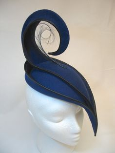 Race day felt spiral hat (an example of millinery)