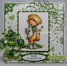 "Cards 2 Cherish: A ""Green"" Challenge at Mo's Challenge Blog"