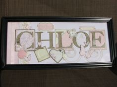 Stampin' Up! Name frame using large letters dies Name Frame, Large Letters, Paper Cutting, Baby Gifts, Stampin Up, Blessed, Frames, Paper Crafts, Cards