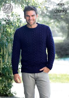 Free Knitting Pattern Mens Chunky Jumper : Mens jumper free knitting pattern Free knitting patterns Pinterest ...