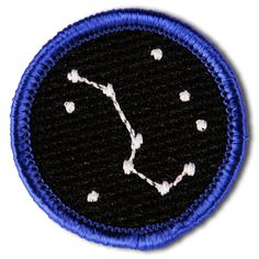 Life Merit Badge from Disorderly Goods. The Big Dipper: for dreaming big. Big Dipper, Dipper Pines, Pin And Patches, Jacket Patches, Makeup Sites, Merit Badge, Look At The Stars, Fabric Patch, Patch Kids