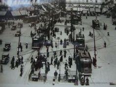 POSTAL PRIMER AÑO GUERRA CIVIL MADRID TRANVIA TRAVIAS SELLO BRIGADA MIXTA B 1ER BATALLON 1937 LOT100