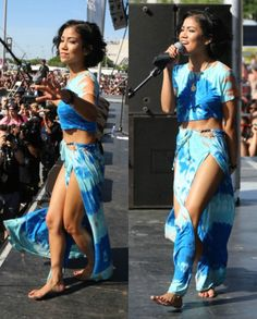 Jhene Aiko                                                      im still obsessed with this outfit!!! there is so much soul!