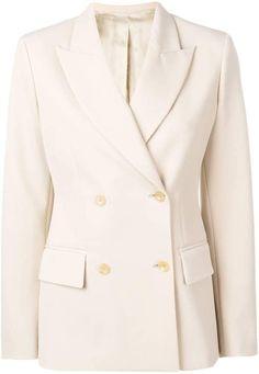 Ladies Women Gold Button Double Breasted Duster Coat Jacket Blazer Plus Size UK