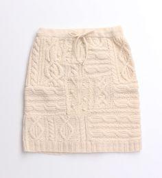 My Fav.手編みケーブル/ジャガードスカート