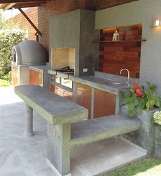"""Acquire terrific ideas on """"outdoor kitchen countertops grill area"""". They are actually offered for you on our web site. Outdoor Kitchen Sink, Outdoor Kitchen Countertops, Backyard Kitchen, Outdoor Kitchen Design, Backyard Patio, Rustic Outdoor Kitchens, Outdoor Cooking Area, Outdoor Spaces, Outdoor Living"""