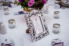 Bright Pink & Purple Bouquet. Navy Blue Bridesmaids. Gorgeous Bride, Gorgeous Flowers. Calderwood Hall. Natural Nostalgia. Décor, Flowers. Silver Rose Bowl - Guest Table Centre Pieces. Antique Frame for Table number