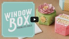 Window Shopping Stamp Set & Window Box Thinlits Available January 4, 2017.  To purchase go to http://kmaurer.stampinup.net