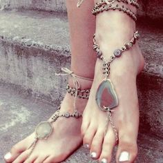 natural hippie barefoot sandal <3