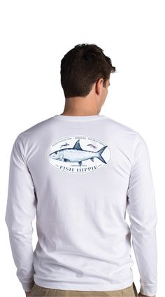 Fish Hippie Flats Grey Ghost Long Sleeve T-Shirt