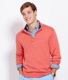 Shop Sweaters for Men: Cotton 1/4-Zip Sweater for Men - Vineyard Vines  Size - S