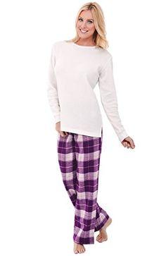 d8cdbcc85b Alexander Del Rossa Womens Flannel Pajamas