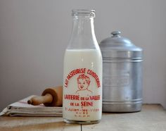 Vintage French Dairy Bottle