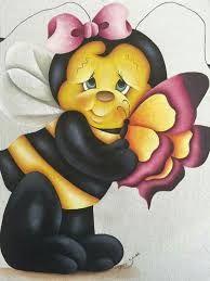 Resultado de imagem para risco de pintura de abelha bem bonita