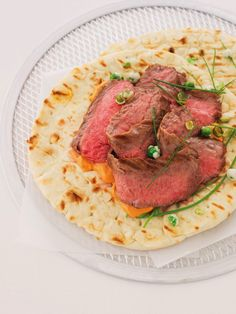 Grilled Flank Steak with Red Curry Cream and Wasabi Peas | Robin ...
