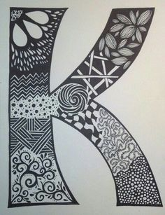 """K"" - sharpie art - sf sharpie doodles, sharpie drawings, sharpie markers Sharpie Drawings, Sharpie Doodles, Easy Drawings, Mandala Doodle, Doodle Art, Doodle Ideas, Sharpie Art Designs, Sketchbook Cover, Sketchbook Ideas"