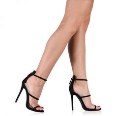 Aisha High Heels In Black Faux Suede