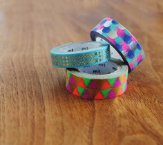 metallic & neon washi tape