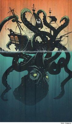 octopus vs the ship