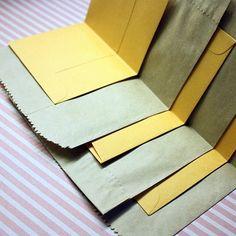 paper bag + coin envelope mini album