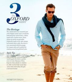oxford shirt heritage and style tip