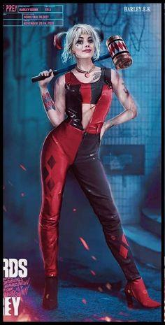 Harley And Joker Love, Harley Quinn Cosplay, Joker And Harley Quinn, Dc Comics Art, Comics Girls, Dc Comics Women, Harley Quinn Drawing, Margot Robbie Harley Quinn, Gotham Girls