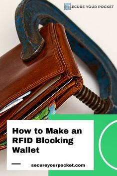 Criminals can literally walk around with RFID scanners and read your credit card data Rfid Blocking Wallet, Card Reader, Duct Tape, Fossil, Pouch, Pocket, How To Make, Duck Tape, Fossils