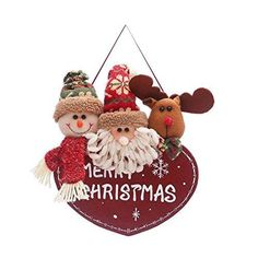 Kanzd Christmas Decor Toy Doll Gift Home Children Kids Santa Snowman Wooden Hanging (A) Christmas Decorations, Christmas Ornaments, Holiday Decor, Doll Toys, Dolls, Baby Christmas Gifts, Developmental Toys, Rock Art, Baby Gifts