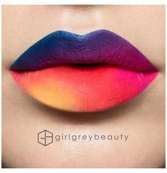 Lip Art, Lipstick Art, Liquid Lipstick, Lipsticks, Neon Lipstick, Nice Lips, Cool Lips, Makeup Looks Tutorial, Pink Lips