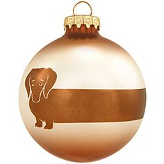 Dachshund Glass Ornament- oh dang. Need me one of these!