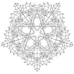 Beautiful Mandalas to Color | Yule mandala by mandalamama on deviantART