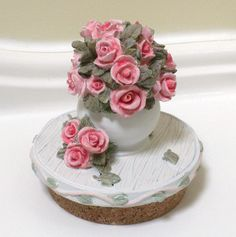 Yankee Style Candle Jar Topper  Hand painted by VintagePossessions, $5.95