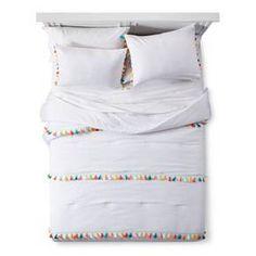 Tassel Comforter Set White - Pillowfort™ : Target