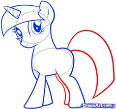 how to draw twilight sparkle, my little pony, twilight sparkle step 7