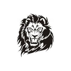 Lion Tattoo CDR DXF Vector Layered Cut File Silhouette Cameo Cricut Design Template Stencil Vinyl Decal Tshirt Heat Transfer by SvgDrawingsStore on Etsy