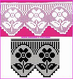 Knitting, crochet etc Crochet Boarders, Crochet Lace Edging, Crochet Squares, Thread Crochet, Filet Crochet, Crochet Doilies, Crochet Stitches, Quick Crochet, Love Crochet
