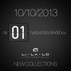 Από αύριο 10-10-13, η μέρα σας θα είναι ακόμα πιο όμορφη και λαμπερή! Οι νέες συλλογές θα είναι ΕΔΩ!