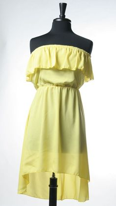 Yellow is definitely my go-to color this season! <3  Strapless Ruffle Blousin Dress