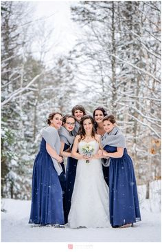 Winter Wedding – Bridesmaid - Le Baluchon de Saint-Paulin – Audrey and Jean-Philippe