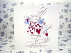 The White Rabbit #aliceinwonderland #stationary #stitching
