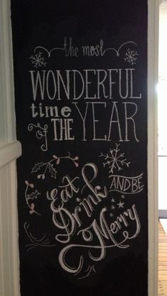 Can't wait to jazz up my pantry door chalkboard this Christmas