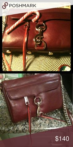 Rebecca Minkoff Mini M.a.c HTF Burgundy leather gorgeousness only carried once.  With dustbag.  Like new. Rebecca Minkoff Bags Mini Bags