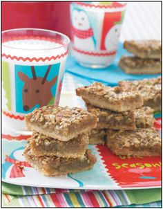 Pecan Pie Bars from Gooseberry Patch's book, Classic Christmas Recipes.